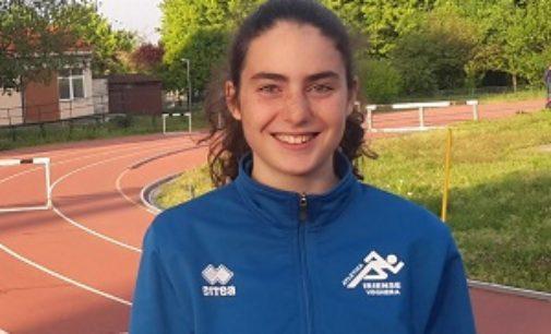 VOGHERA 08/05/2019: Atletca. Agnese Pilla dell'Iriense brilla a Pavia