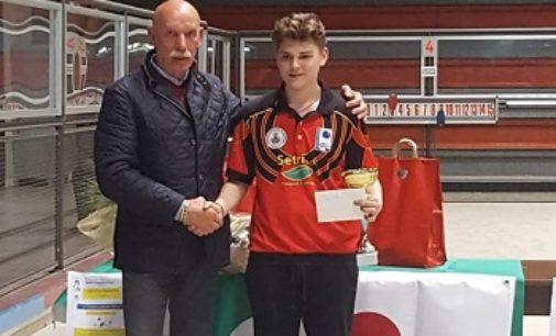 VOGHERA 21/05/2019: Bocce. Il 16enne vogherese Davide Coscia vince a Cremona