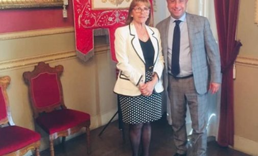 VOGHERA 22/05/2019: Il nuovo Prefetto in visita a palazzo Gounela. Tema tratto con il Sindaco: la Sicurezza