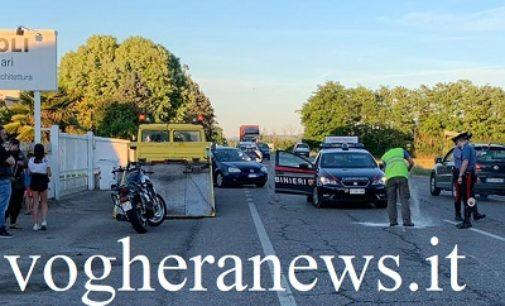 VOGHERA 13/06/2019: Moto contro auto. 38enne ferito in via Piacenza