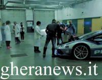 PAVIA 07/06/2019: Polizia Stradale in Lamborghini consegna organo da trapiantare al San Matteo. Il bolide arrivava da Bari (IL VIDEO)