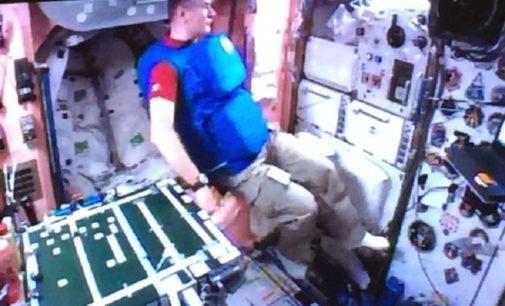 PAVIA 14/06/2019: Pavese la tuta anti radiazioni degli astronauti. Funziona ad acqua. E' un progetto dell'Università di Pavia e dell'Agenzia Spaziale Italiana