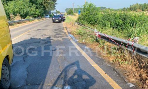 MEZZANA BIGLI 06/07/2019: Automobile trafitta dal guardrail. Morto 26enne dominicano di Balossa. Prima risiedeva a Voghera