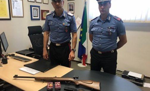VOGHERA 10/07/2019: Sposta illecitamente armi della casa della madre alla propria. Denunciato residente di Silano Pietra