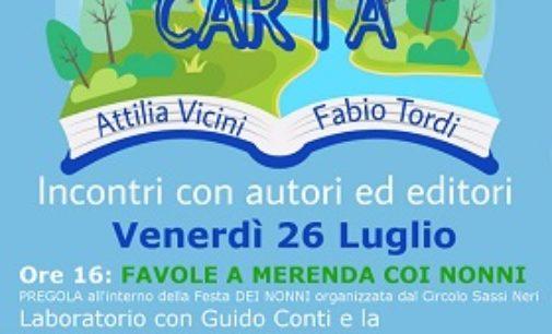 """BRALLO 25/07/2019: Giochi per bambini. Pizza. E Libri. """"Montagne di Carta"""" dà appuntamento a tutti domani in Alta Valle"""