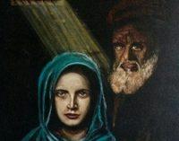 MONTESEGALE 12/09/2019: Il pittore vogherese Andros dona un dipinto alla chiesa di Languzzano. In ricordo di Rita Dedomenici