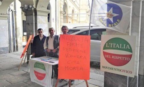 """VOGHERA 04/10/2019: """"Voghera città morta"""". Prosegue domani in piazza Duomo la petizione di IdR e IR"""