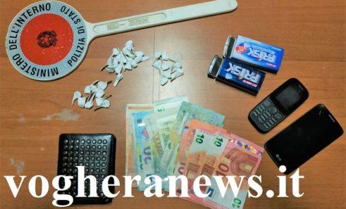 VOGHERA 16/10/2019: Sorpreso con 30 dosi di cocaina. Arrestato dalla Polizia è stato condannato e liberato