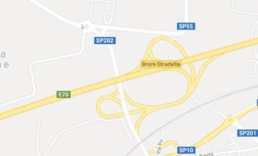 BRONI STRADELLA 30/10/2019: Lavori sulla Sp202. Limiti al traffico dei mezzi pesanti sul viadotto sull'autostrada