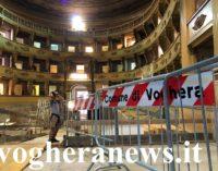 VOGHERA 27/07/2021: Teatro Sociale. Procedono i lavori di ristrutturazione. In arrivo altri 170mila euro