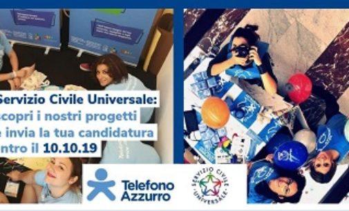 VOGHERA 03/10/2019: Servizio Civile. Telefono azzurro cerca persone che hanno voglia di stare dalla parte dei Bambini