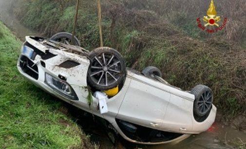 SANNAZZARO 29/11/2019: Automobilista muore dopo esseri ribaltato in un canale. Morta anche la pensionata finita nel canale a Gambolò