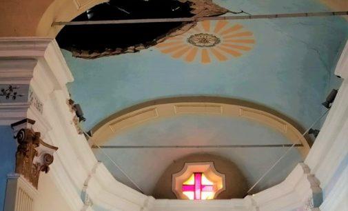 BAGNARIA 20/11/2019: Volta della chiesa crollata. Parrocchia e Comune lanciano una raccolta fondi. Per la chiesa di Livelli servono 200mila euro