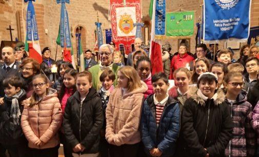 VOGHERA 11/11/2019:  Festa del Fante. Il coro degli alunni della De Amicis colonna sonora della celebrazione