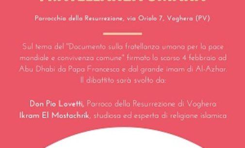 VOGHERA 01/11/2019: Alla parrocchia della Resurrezione un incontro interreligioso sulla fratellanza umana