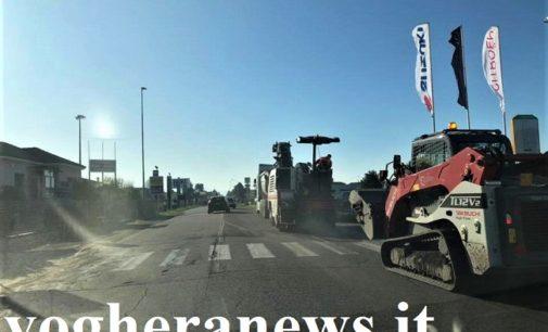 BRESSANA CAVA SAN MARTINO 13/11/2019: Lunghe code sulla Sp35 per l'asfaltatura a Cava Manara. La Provincia si scusa. Cantiere anche domani dalle ore 9