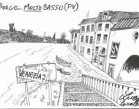 PAVIA 26/11/2019: Pavia allagata. La vignetta di Luca Cavallaro
