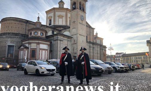 VOGHERA 24/12/2019: Pattuglie in alta uniforme lungo le vie del centro. Il regalo di Natale dei Carabinieri alla città di Voghera