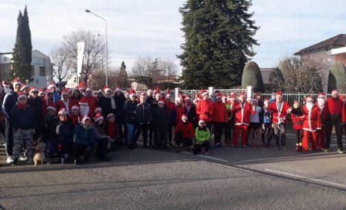 VOGHERA 27/12/2019: Atletica. 120 Babbo Natale per le strade di Voghera