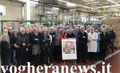 """VOGHERA 05/12/2019: Plastic Tax. Oggi blocco della produzione alla Piber. Lavoratori e industriali uniti per dire No al balzello del Governo. """"E' una tassa sbagliata"""""""