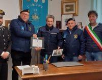 SANTA MARIA DELLA VERSA 28/01/2020: In pensione l'agente Brugnoli. L'omaggio in Comune degli Autieri