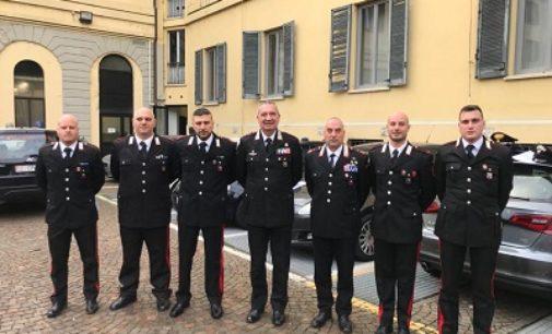 """VOGHERA STRADELLA 10/01/2020: """"Meritorio comportamento in servizio"""". Il Comando Legione Carabinieri Lombardia premia anche 5 militari oltrepadani"""