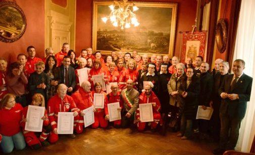 VOGHERA 26/01/2020: La Croce Rossa premia i volontari e festeggia con la Città. Cerimonia in Municipio
