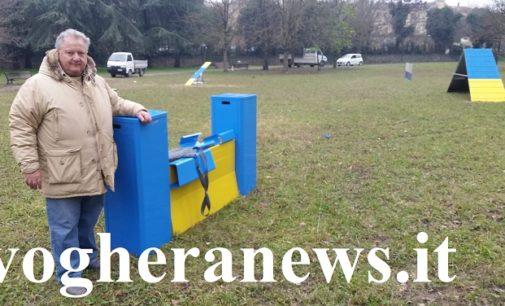 VOGHERA 03/02/2020: Animali. Attrezzature per l'Agility nel parco di viale Repubblica. Il nuovo progetto del Comune