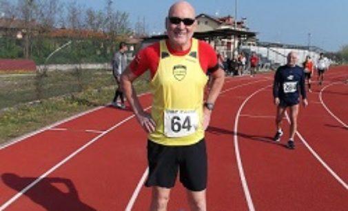 VOGHERA 03/02/2020: Maratona delle Due Perle. Anastase Michailidis dell'Us Scalo vince la categoria m70