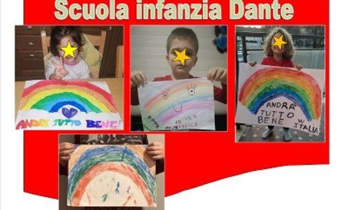 VOGHERA 18/03/2020: Coronavirus. La Scuola Dante fa appello ai bambini per disegnare ed esporre gli arcobaleni