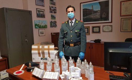 VIGEVANO 31/03/2020: Sequestrati gel e saponette igienizzanti venduti a peso d'oro. Denunciato il titolare di una farmacia