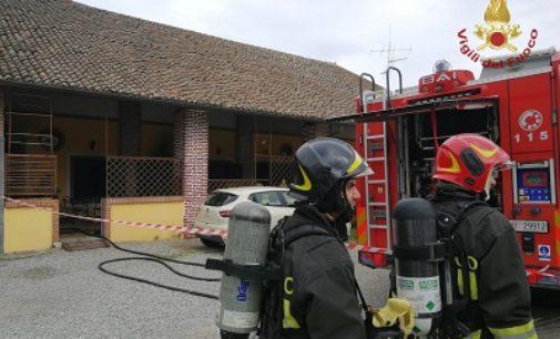 GIUSSAGO 22/03/2020: Incendio in abitazione. Ricoverato un anziano. La moglie è rimasta intrappolata ed è morta