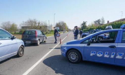 VOGHERA 10/04/2020: Posti di blocco alle entrate della città anche da parte della Polizia e della Polizia Locale iriensi
