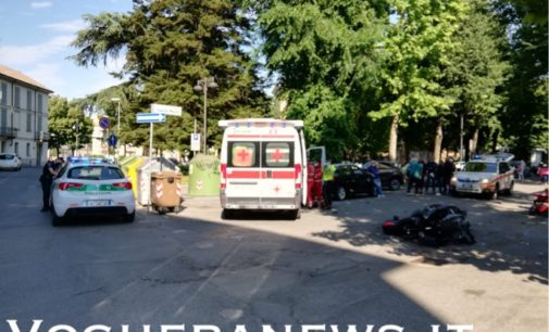 VOGHERA 30/05/2020: Ennesima mancata precedenza all'incrocio Marx Cernaia. Ferito un motociclista