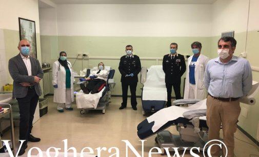 VOGHERA 12/05/2020: Carabinieri all'Avis per donare il sangue alla città. Oggi i primi 5 militari. Ne seguiranno molti altri