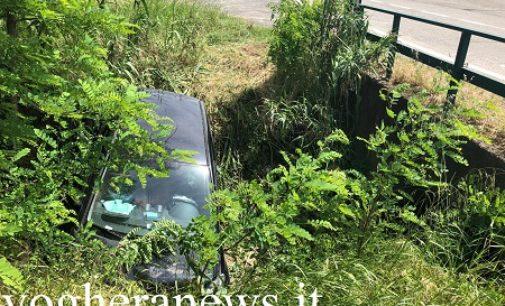 CODEVILLA 18/05/2020: Incidente sulla Sp1. Un'auto finisce nel fossato