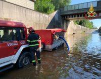 CASTELLETTO 30/05/2020: Idrovore rotte. Sottopasso allagato. Intervengono i pompieri