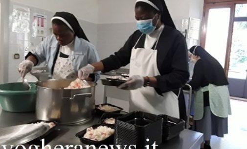 VOGHERA 11/05/2020: Dalle Suore Agostiniane i pasti per i poveri della città