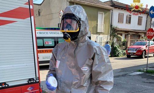 GIUSSAGO 20/05/2020: 80enne a terra in casa per 24 ore. Salvata dai pompieri in assetto anti Covid