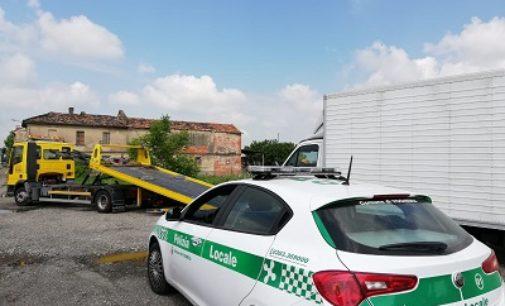 VOGHERA 31/05/2020: Furgone rubato recuperato in strada Frassolo dalla Polizia locale