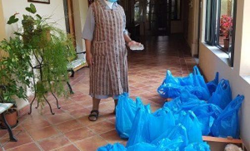 VOGHERA 16/06/2020: Cibo per i poveri dalle suore Agostiniane