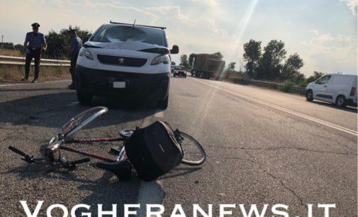 CASTEGGIO 15/07/2020: Tragedia sulla tangenziale. Ciclista muore travolto da un furgone (FOTO VIDEO)oe