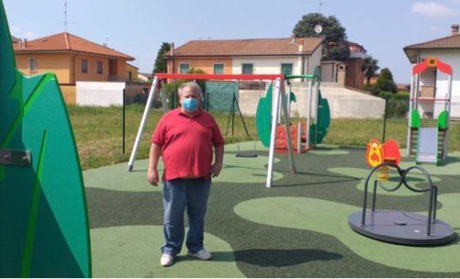 """VOGHERA 01/07/2020: Apre Venerdì il nuovo parco giochi a Medassino. L'assessore: """"È piccolo ma bello e moderno"""""""