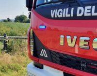 BRONI 23/07/2020: Ultra leggero cade e provoca incendio sulla A21. Salvo ma ferito il pilota
