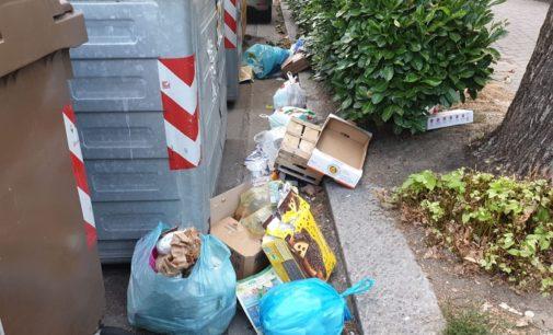 VOGHERA 18/07/2020: Rifiuti abbandonati fuori dai cassonetti. Residenti di via XX Settembre esasperati (FOTO VIDEO)