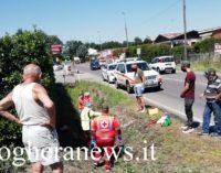 VOGHERA 04/07/2020: Schianto auto-moto in via Piacenza. Ferito un 29enne