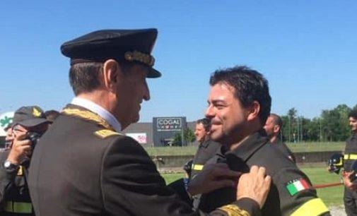 PAVIA 03/07/2020: Luca Romani ce l'ha fatta. Si è 'laureato' pompiere. Al tempo del Covid… in diretta streaming