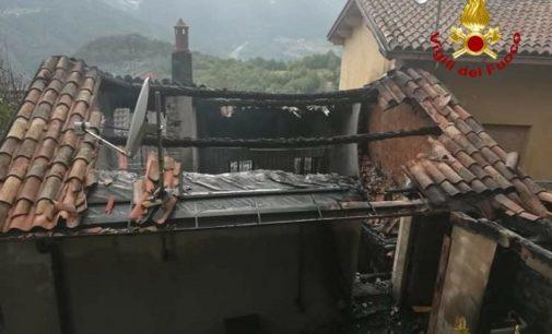 BRALLO 31/08/2020: Il Fuoco distrugge abitazione a Pregola