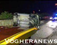 MONTEBELLO DELLA BATTAGLIA 03/08/2020: Auto si impenna e si ribalta. Incidente da incubo ieri sera durante il forte temporale