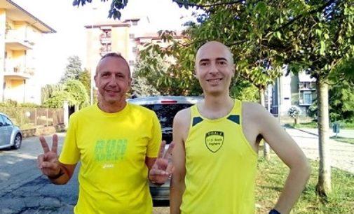PAVIA VOGHERA 03/08/2020: Atletica. Sanacuore e Marioni dell'Us Scalo corrono in salita
